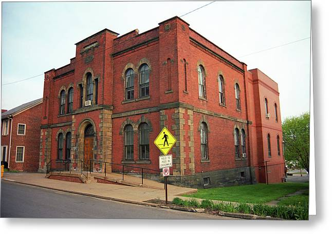 Mercer, Pa - Vintage Building 2008 Greeting Card by Frank Romeo