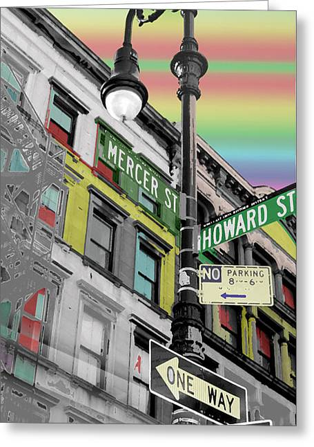 Mercer St Greeting Card