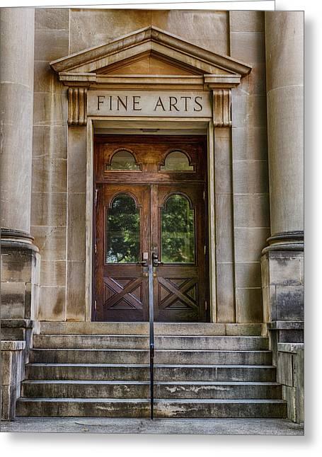 Mercer University - Fine Arts Door #1 Greeting Card