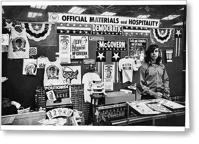 Merchandise George Mcgovern For President Democratic Nat'l Convention Miami Beach Florida  Greeting Card by David Lee Guss