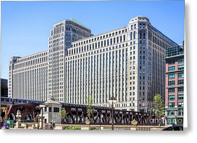 Merchandise Mart Overlooking The L Greeting Card