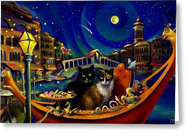 Merchants Of Venice Greeting Card by Paul Birchak