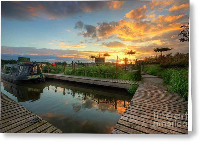 Greeting Card featuring the photograph Mercia Marina 13.0 by Yhun Suarez