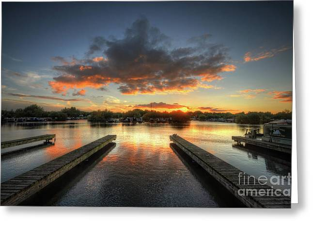 Greeting Card featuring the photograph Mercia Marina 19.0 by Yhun Suarez