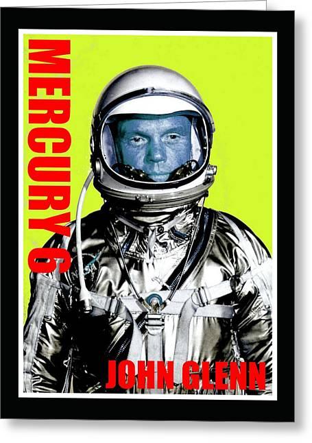 Mercury 6-john H Glenn Greeting Card by Otis Porritt
