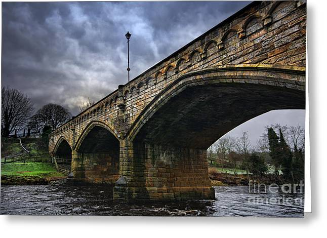 Mercury Bridge, Richmond Greeting Card by Nichola Denny