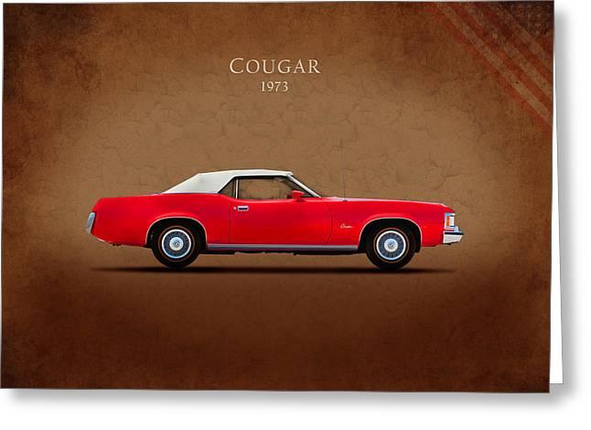Mercury Cougar 1973 Greeting Card