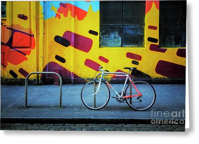 Greeting Card featuring the photograph Mercury Raleigh Bicycle by Craig J Satterlee