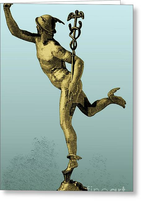 Mercury, Roman God Greeting Card by Science Source