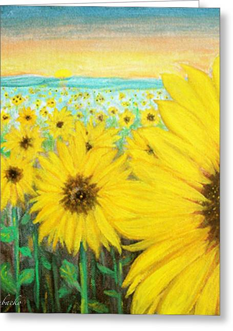 Greeting Card featuring the painting Mercy by Dawn Harrell