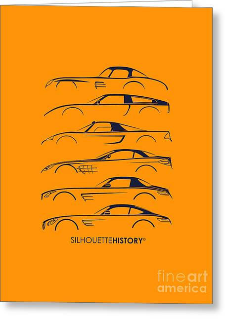 Mercy Sports Car Silhouettehistory Greeting Card