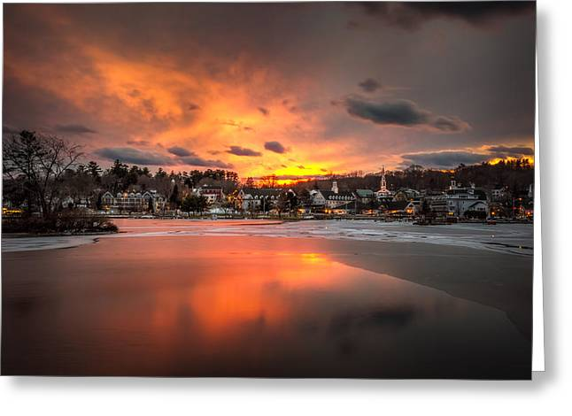 Meredith Sunset Greeting Card