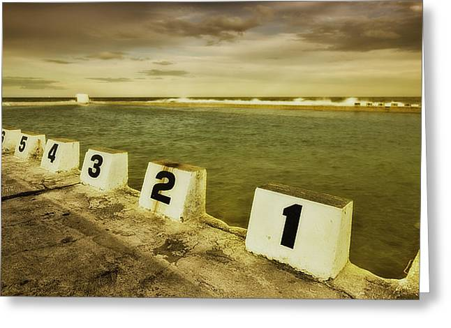 Merewether Ocean Baths Greeting Card by Kevin Chippindall
