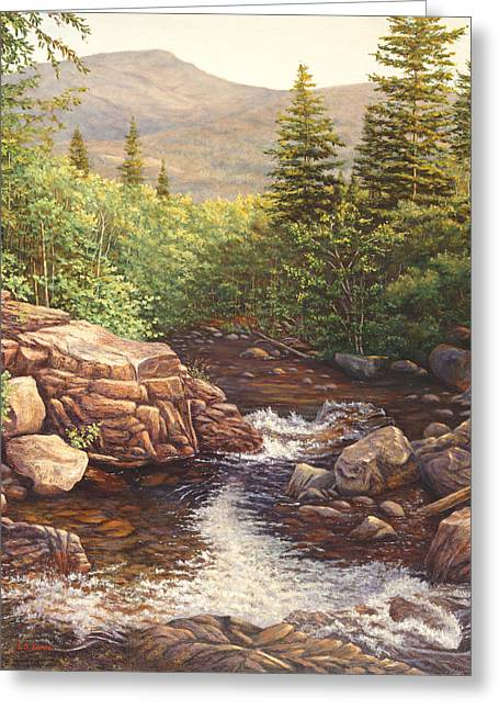 Crystal Cascade Falls, Pinkham Notch, Nh Greeting Card by Elaine Farmer