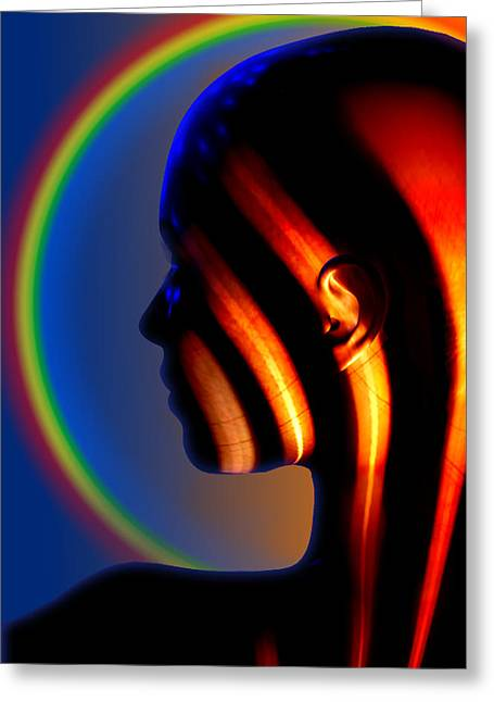 Greeting Card featuring the digital art Meridian by Shadowlea Is