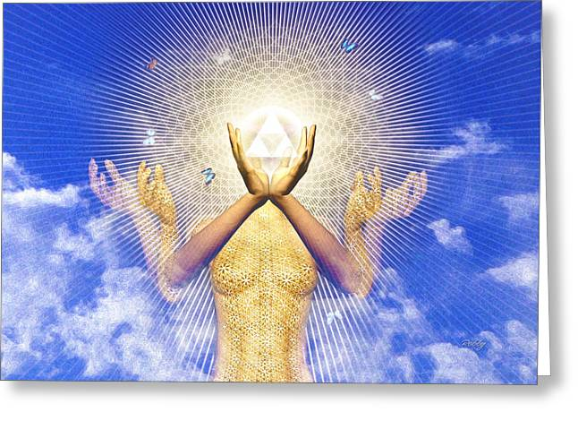 Merkaba Awakening Greeting Card