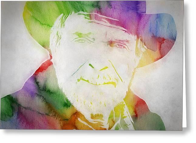 Merle Haggard Watercolor Greeting Card