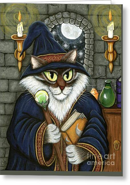 Merlin The Magician Cat Greeting Card