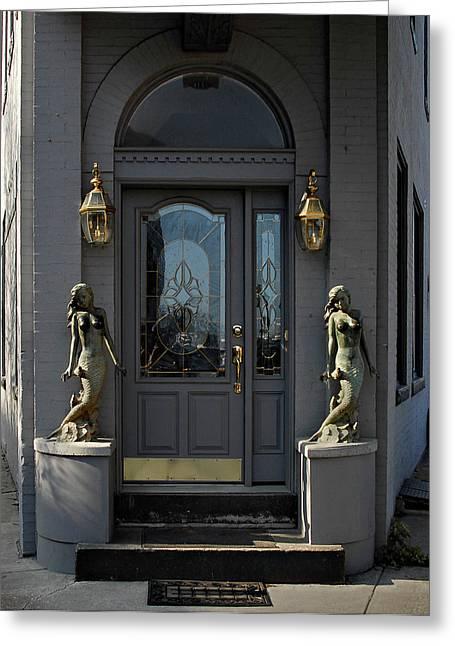 Mermaid Doorway Greeting Card by Murray Bloom