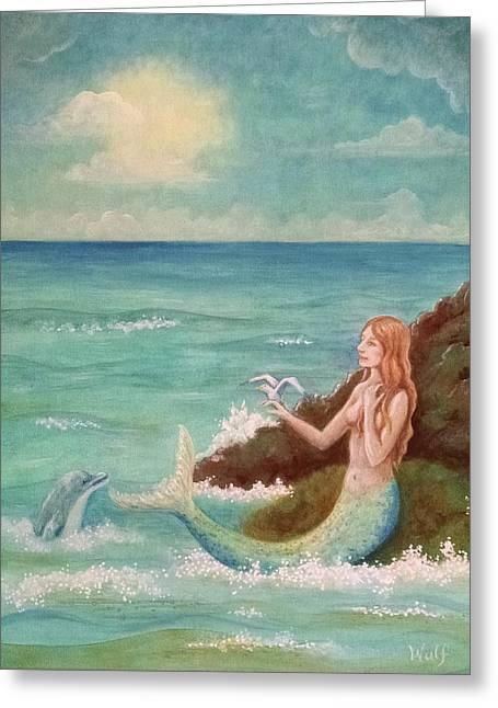 Mermaid Dreams Greeting Card