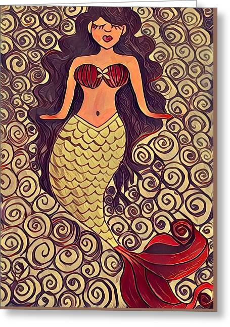 Mermaid Dreams Greeting Card