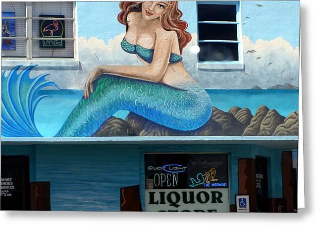 Mermaid Liquors Fort Myers Beach Greeting Card by Christine Sullivan Cuozzo