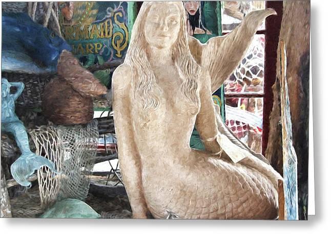 Mermaid Pondering Greeting Card