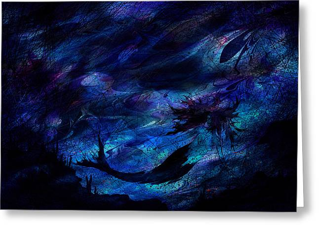 Mermaid Greeting Card by Rachel Christine Nowicki