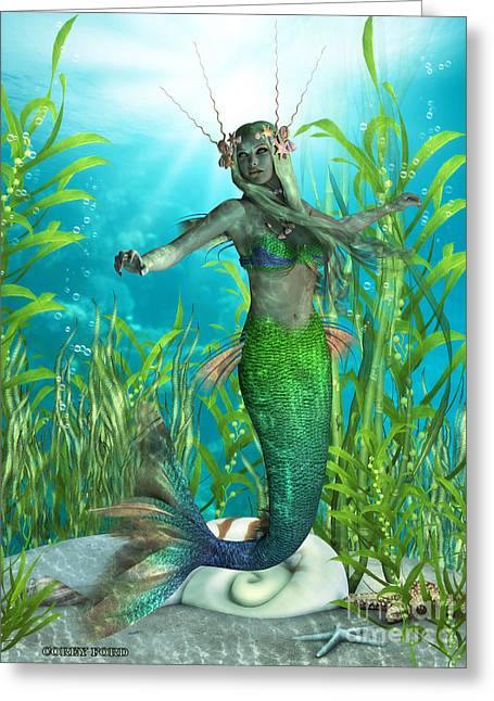 Mermaid Realms Greeting Card by Corey Ford