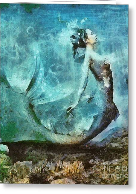 Mermaid Greeting Card by Sarah Kirk