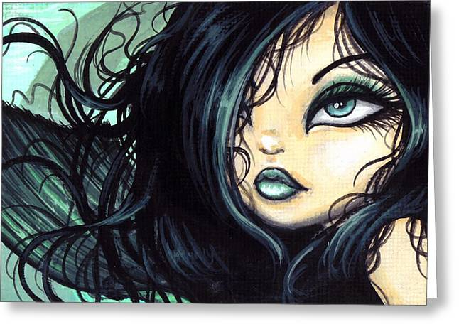 Mermaid Sylvara Greeting Card by Elaina  Wagner