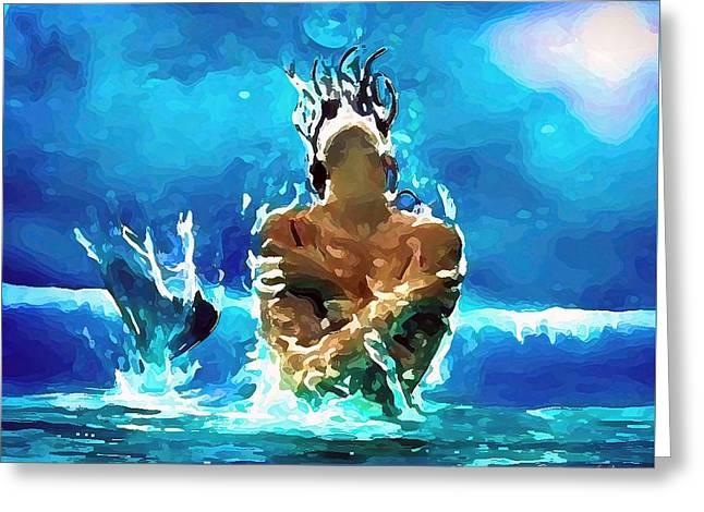 Mermaid Under The Moonlight Greeting Card