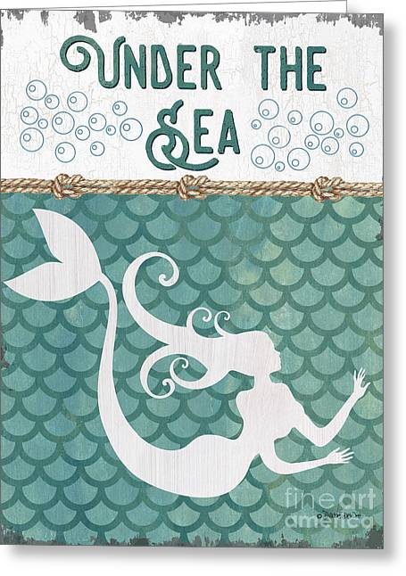 Mermaid Waves 2 Greeting Card by Debbie DeWitt