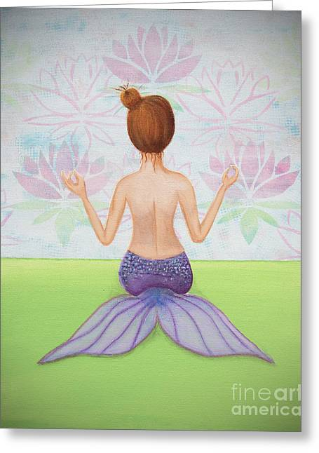 Mermaiditation Greeting Card by Teri Labrousse