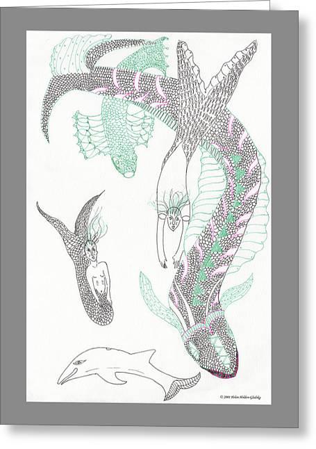 Mermaids And Sea Dragons Greeting Card