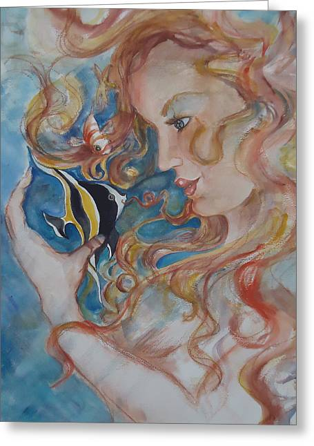 Mermaids Kiss Greeting Card