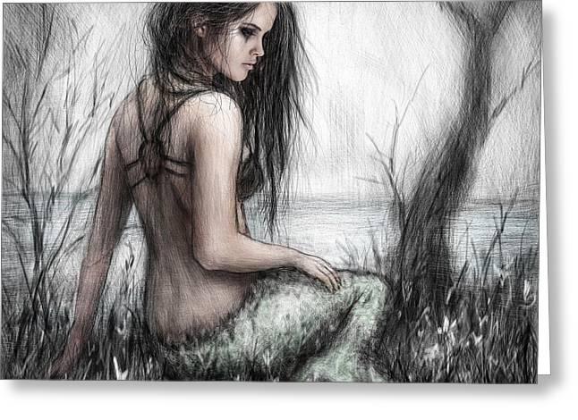 Mermaid's Rest Greeting Card by Justin Gedak