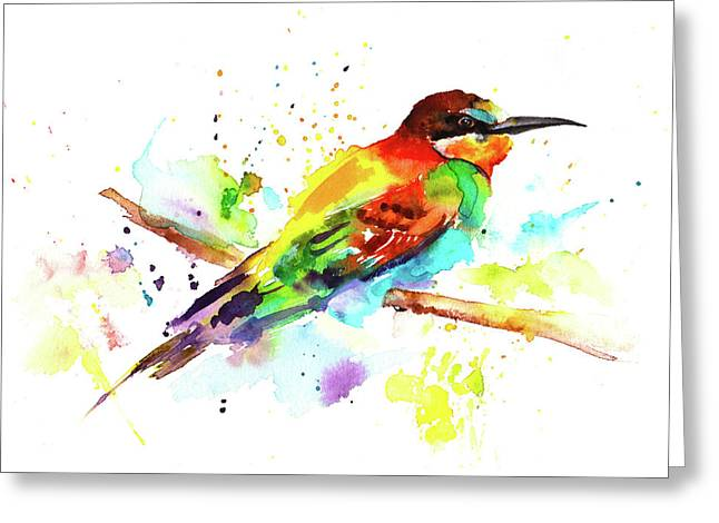 Merops Apiaster Greeting Card by Isabel Salvador
