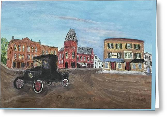 Old New England Town Greeting Card