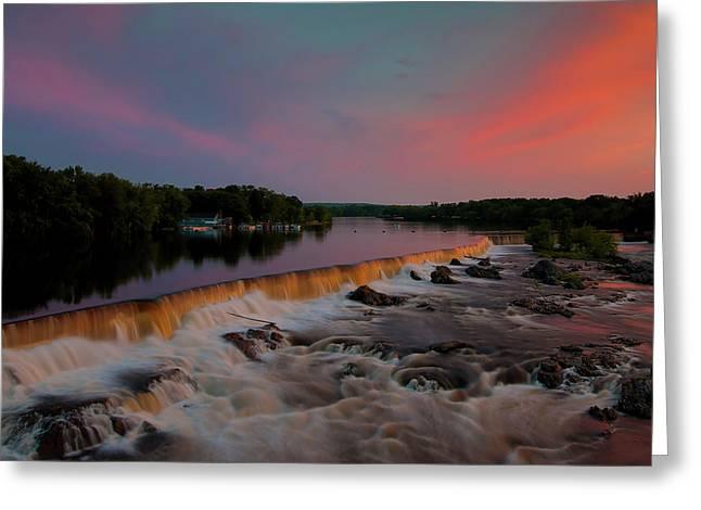 Merrimack River Falls Greeting Card