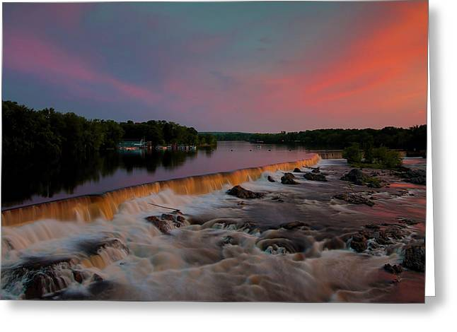 Merrimack River Falls Greeting Card