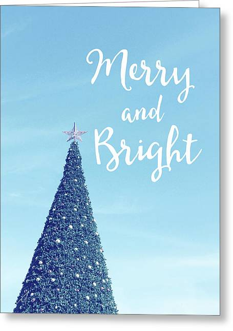 Merry And Bright - Art By Linda Woods Greeting Card