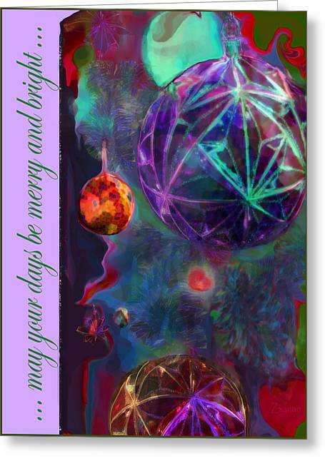 Merry And Bright Holidays Greeting Card