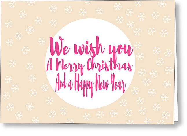 Merry Christmas Art Greeting Card