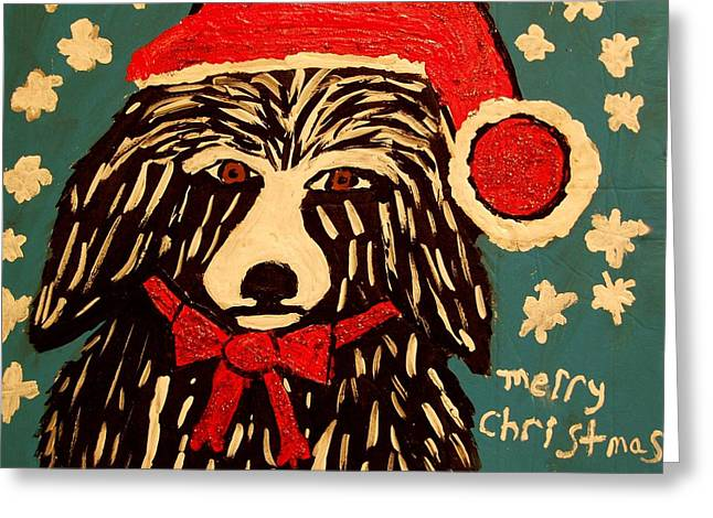 Merry Christmas Greeting Card by Betty  Roberts