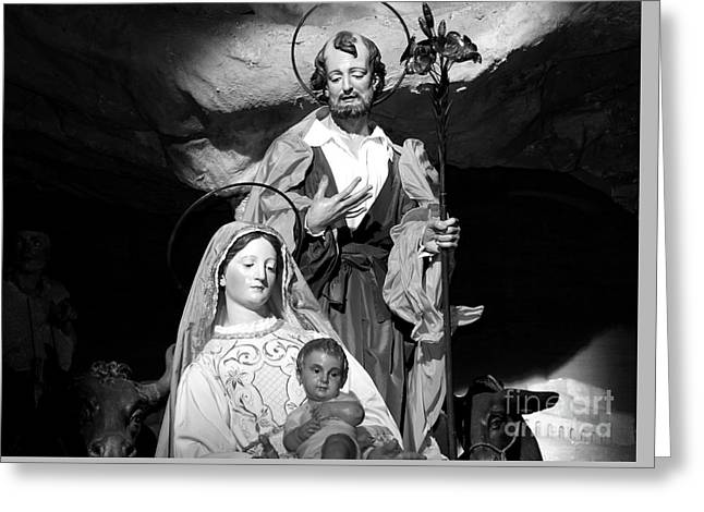 Merry Christmas - Black And White Greeting Card by Stefano Senise