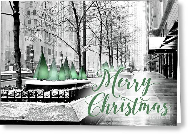 Merry Christmas Chicago Greeting Card