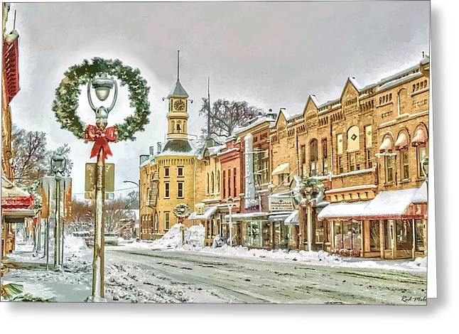 Merry Christmas - Columbus Greeting Card by Rod Melotte