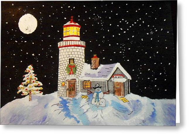 Merry Christmas  Greeting Card by Connie Valasco
