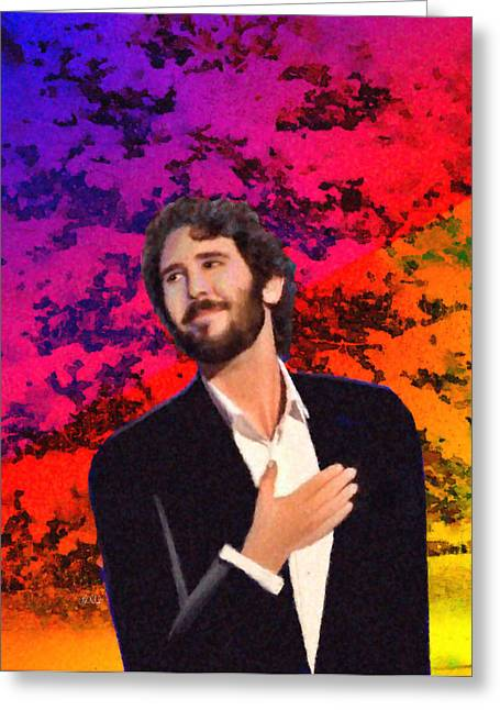 Merry Christmas Josh Groban Greeting Card by Angela A Stanton